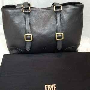 Frye Brand New Black Leather Tote Bag!
